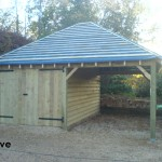 18ft x 20ft Phoenix Traditional Garage and Car Port built in Cove.