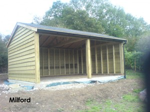 20ft x 16ft Phoenix Traditional Garage built in Milford.