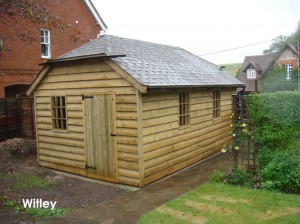 20ft x 12ft Phoenix Traditional Garage built in Witley.