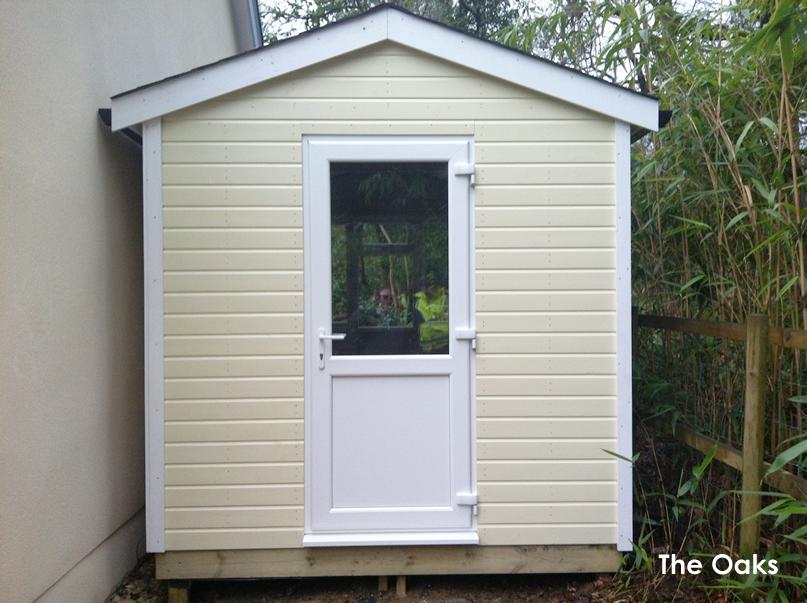Free access oak garden sheds shedbra for Oak garden office