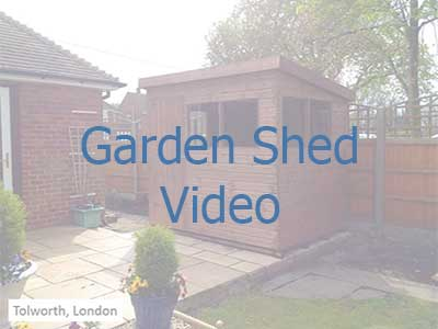 Click on the image to be taken to a video on garden shed