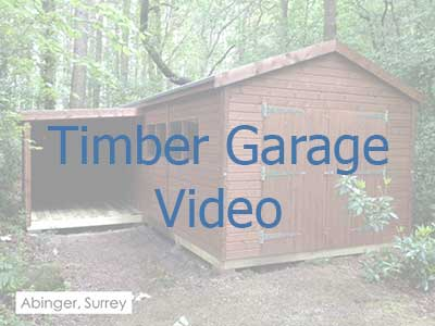 Click on the image to be taken to a video on timber garages