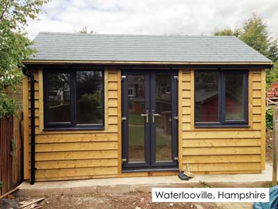 Picture of a garden room we built in Waterlooville, Hampshire