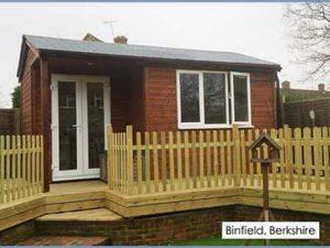 Picture of a garden room we built in Binfield, Berkshire