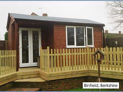 picture of a garden room we built in Binfield, Berkshire