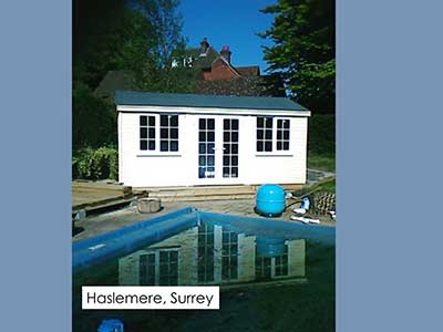 Picture of a garden room that we built in Haslemere, Surrey