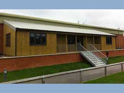 A picture of a Pavilion that we built for a local school here in Farnham, Surrey