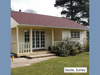picture of a garden room we built in Seale, Surrey