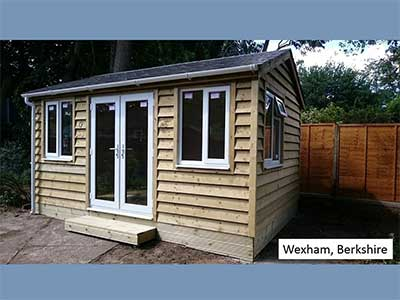 Picture of a garden room we built in Wexham, Berkshire