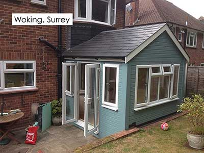 Picture of a garden room we built in Woking, Surrey