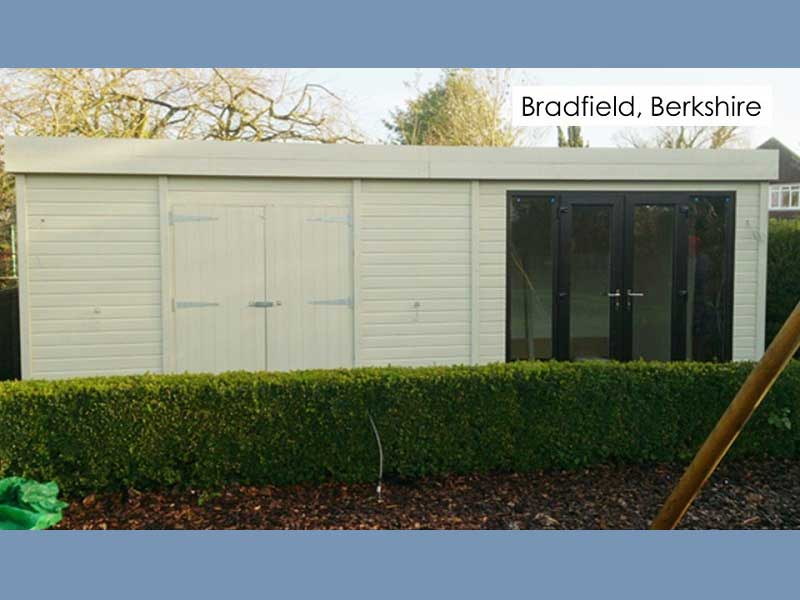 Garden Pod and Premium Workshop in Bradfield, Berkshire