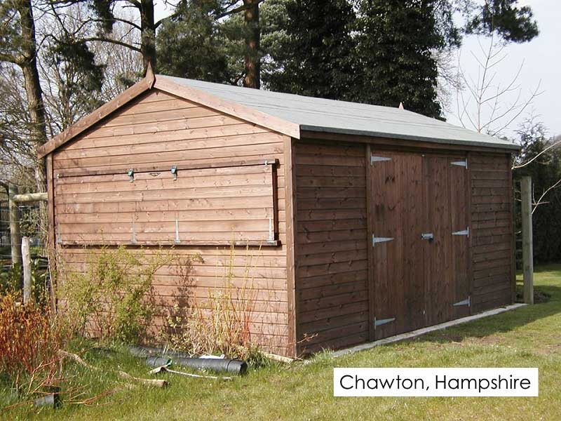 Premium Timber Workshop in Chawton, Hampshire