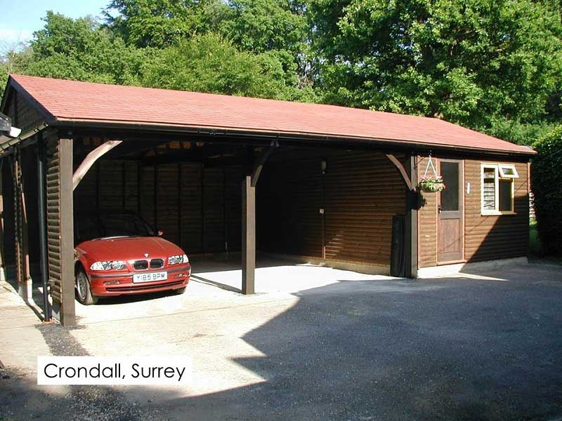 Timber Garage in Crondall, Hampshire