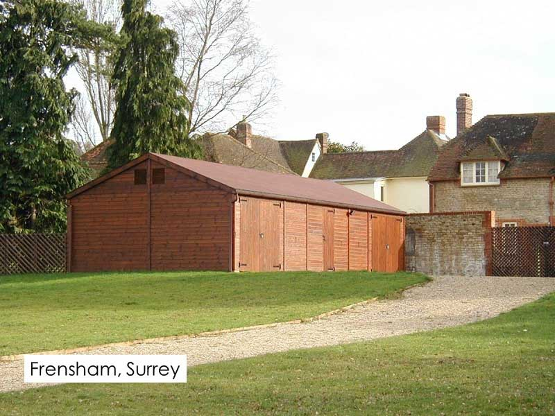 Timber Garage in Frensham, Surrey