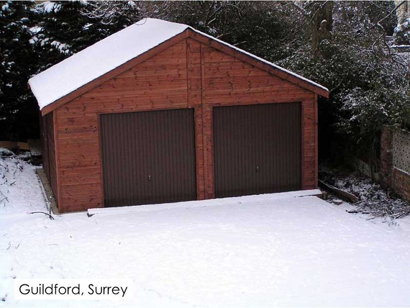 Timber Garage in Guildford, Surrey