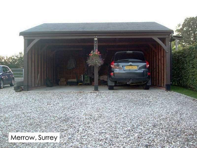 Timber Garage in Merrow, Surrey