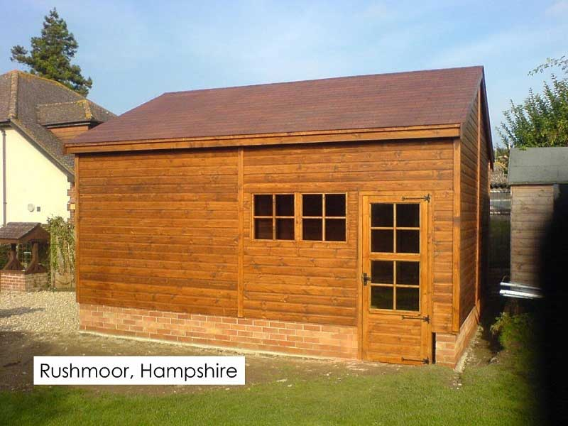 Timber Garage in Rushmoor, Surrey