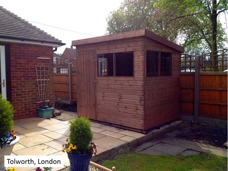 Garden Shed in Tolworth, London