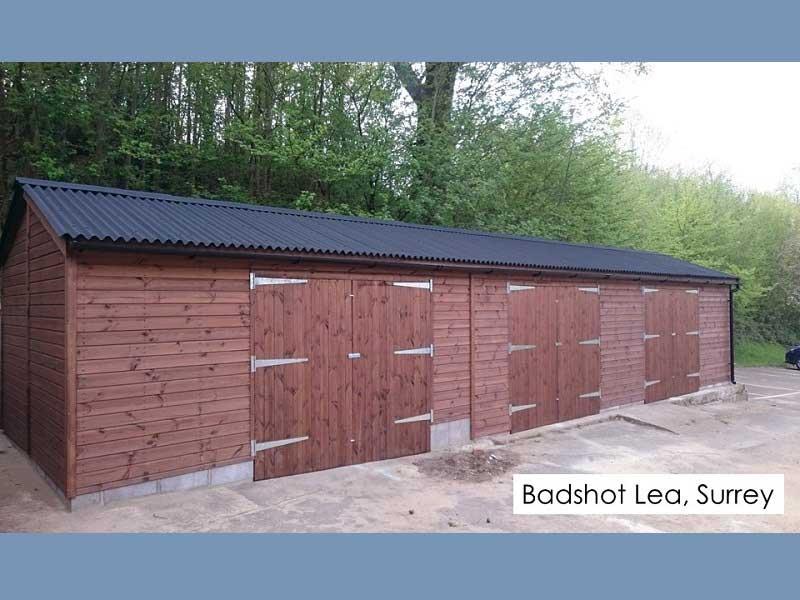 Timber Garage in Badshot Lea, Surrey