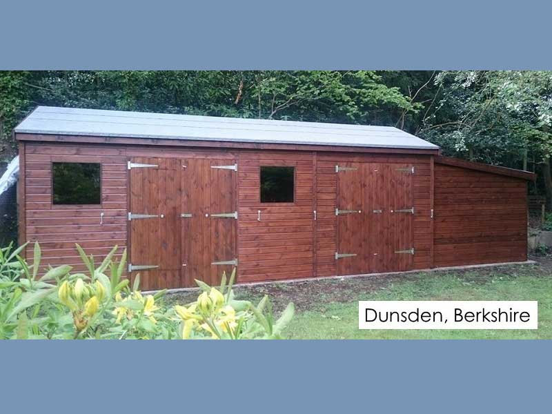 Premium Timber Workshop in Dunsden, Berkshire