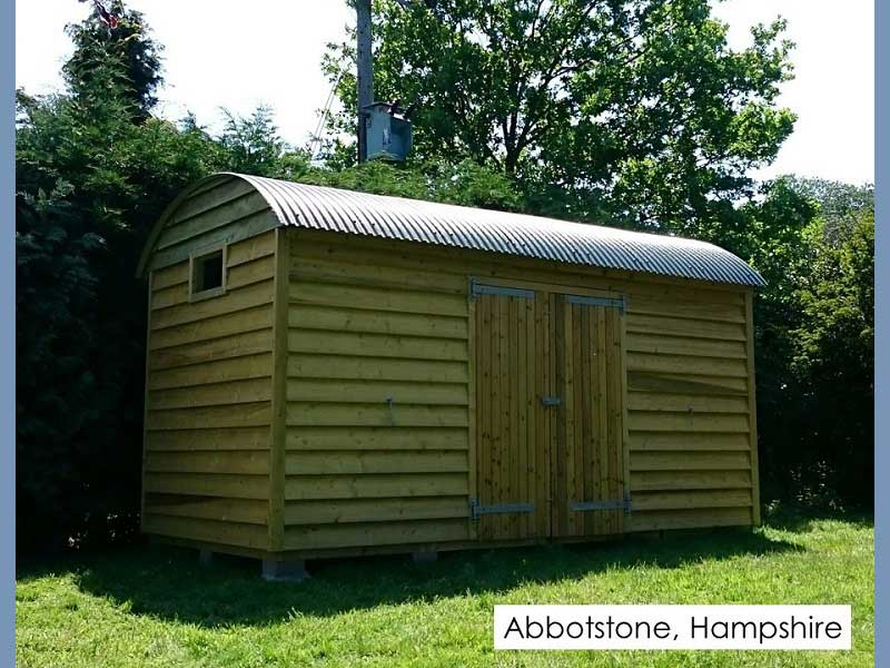 Shepherds Shed in Abbotstone, Hampshire