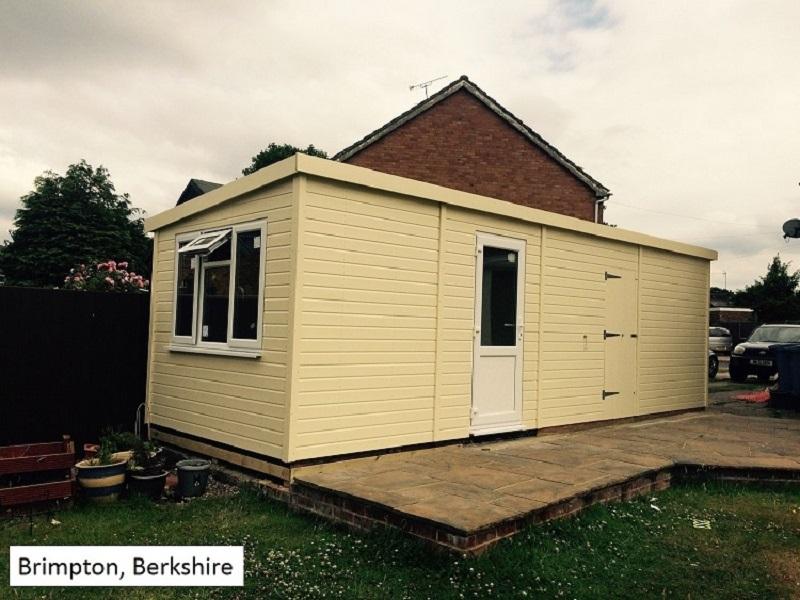 Garden Pod and Timber Garage in Brimpton, Berkshire