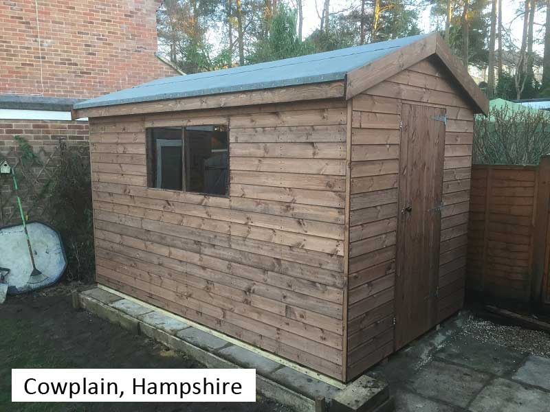 Garden Shed In Cowplain, Hampshire