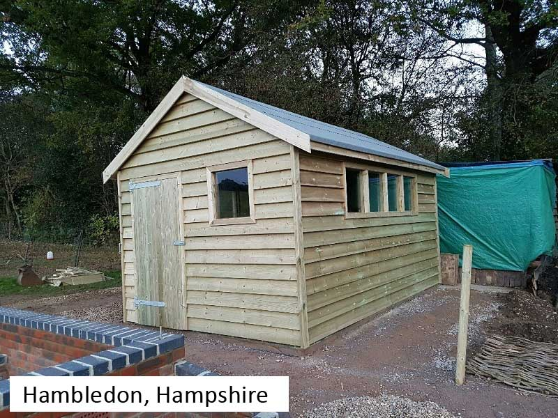 Premium Timber Workshop In Hambledon, Hampshire