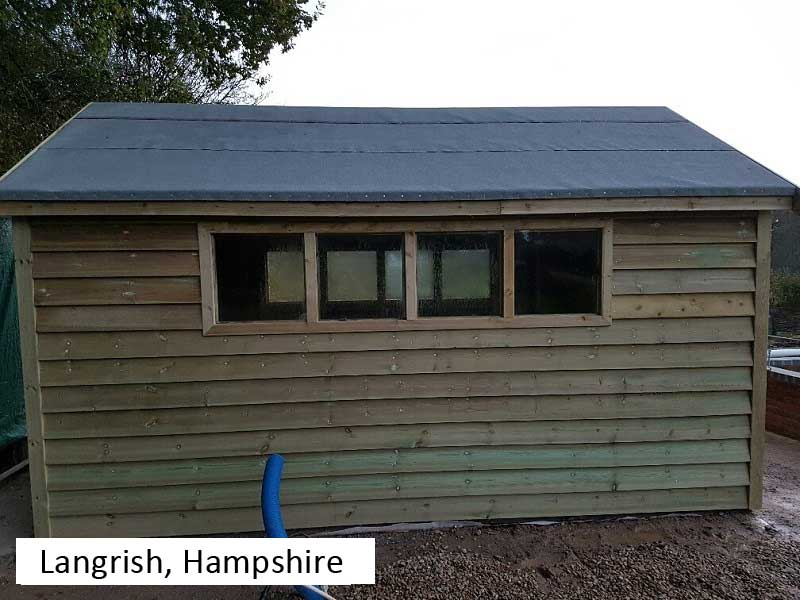 Premium Timber Workshop In Langrish, Hampshire