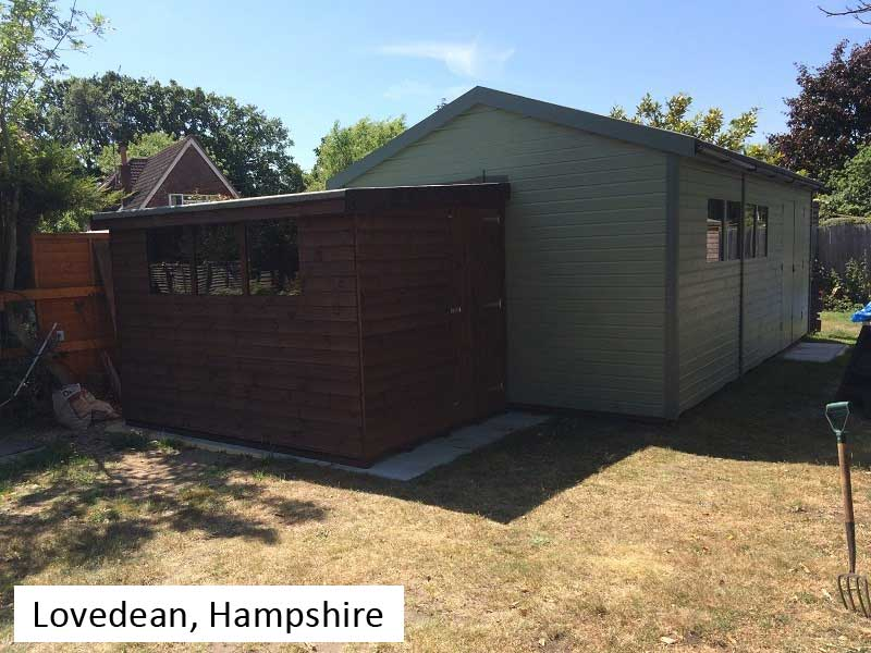 Premium Timber Workshop In Lovedean, Hampshire