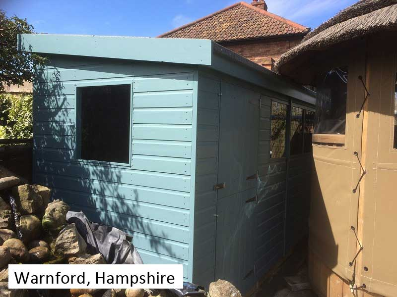 Garden Shed In Warnford, Hampshire