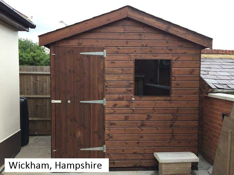 Garden Shed In Wickham, Hampshire