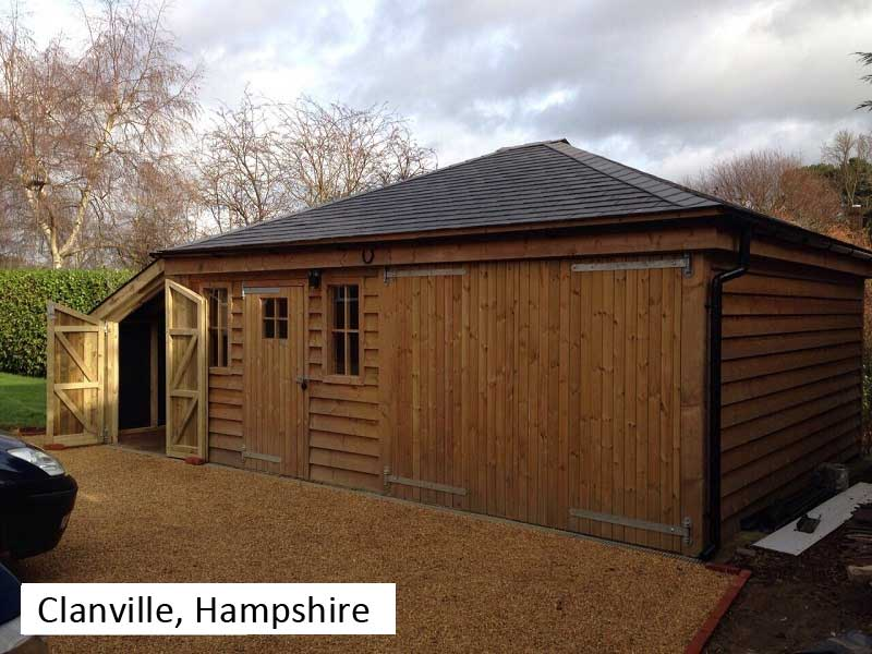 Traditional Garage In Clanville, Hampshire