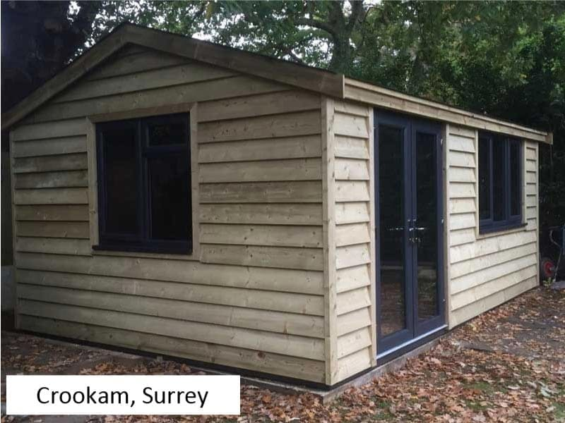 Garden Office in Crookham, Surrey