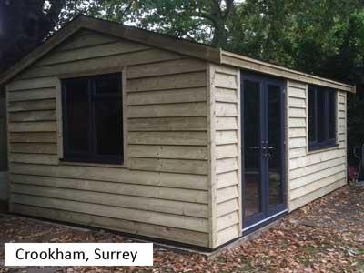 Garden Office in Crookham, Surrey