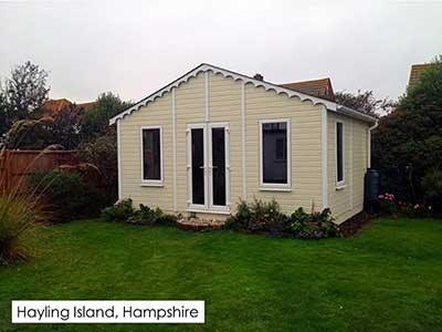 Picture of a garden room that we built in Hayling-Island, Hampshire