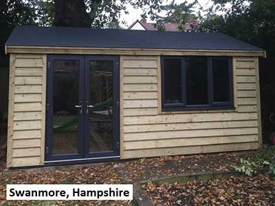 Picture of a garden room we built in Swanmore, Hampshire