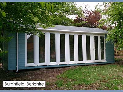 garden studio in burghfield,berkshire