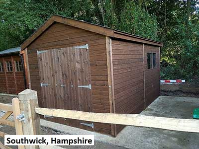 Pictures from our timber garages portfolio