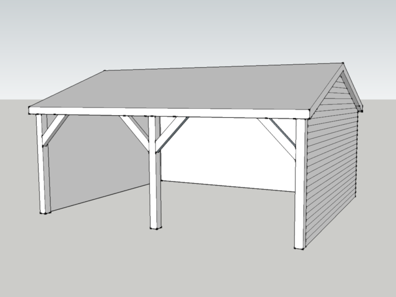 Timber Garage in Abbots Ann, Hampshire