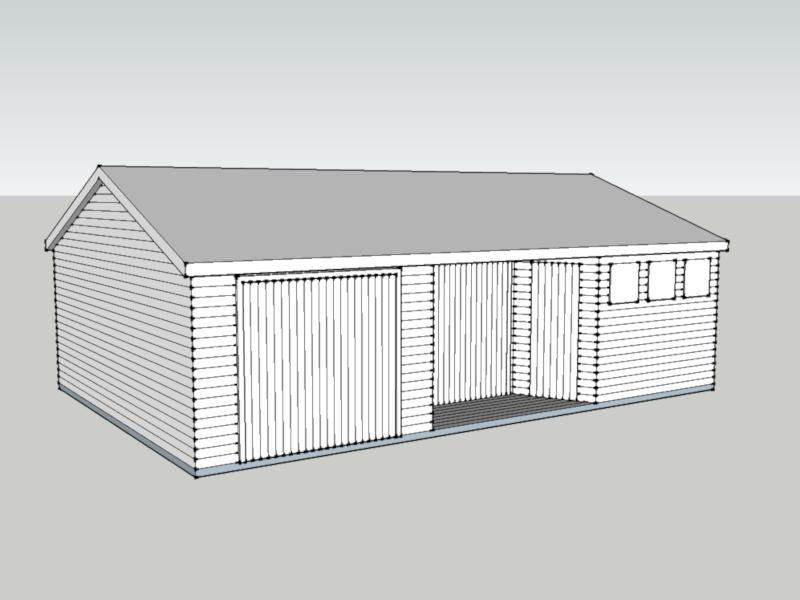 Timber Garage in Bordon, Hampshire