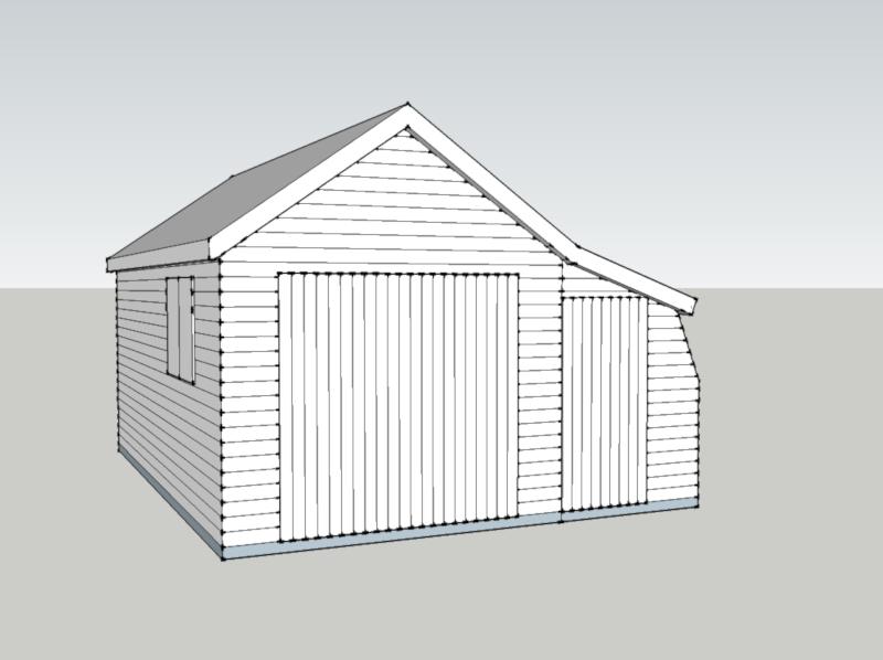 Timber Garage in Brookwood, Surrey