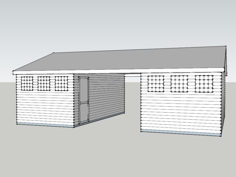 Timber Garage in Hawley, Surrey