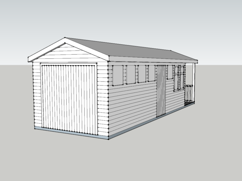 Timber Garage in Linchmere, West Sussex