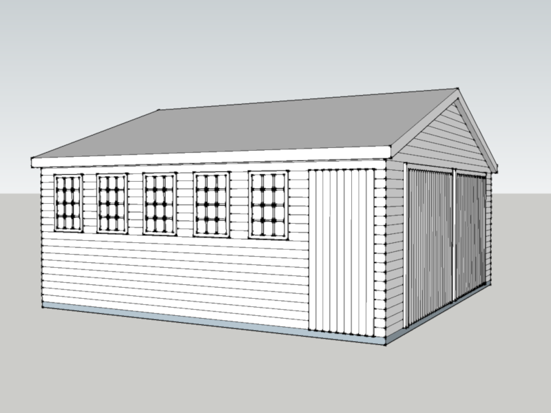 Timber Garage in Whitehill, Hampshire