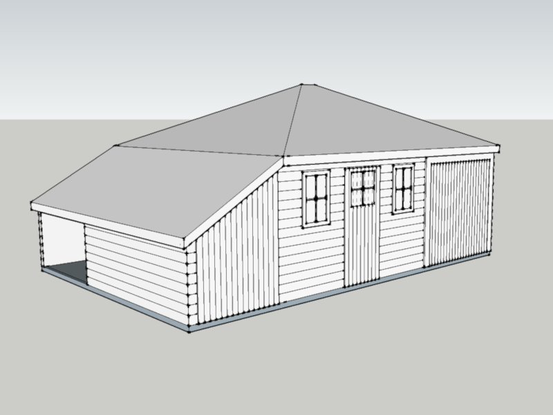 Traditional Garage In Chute Standen, Hampshire
