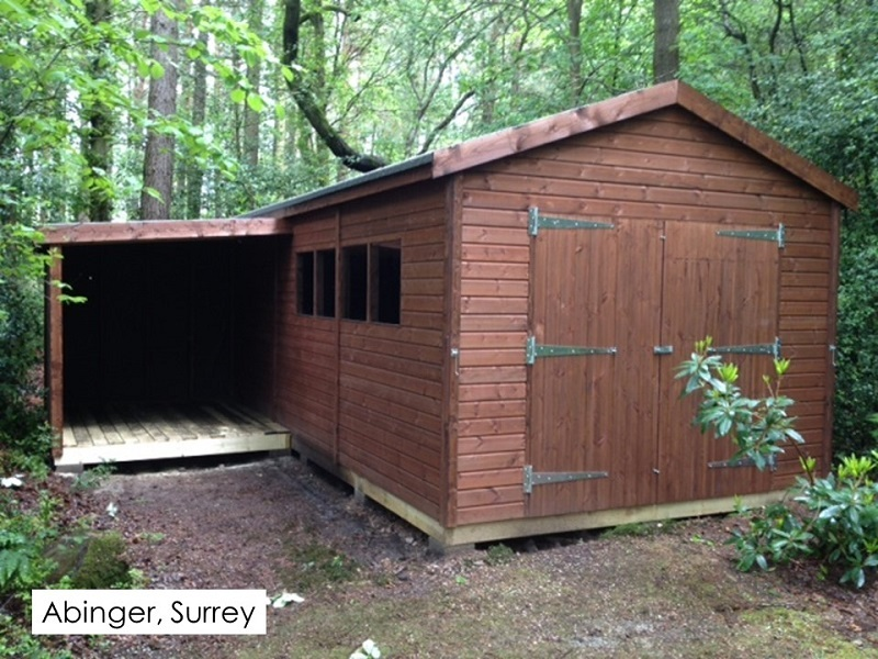 Timber Garage in Abinger, Surrey