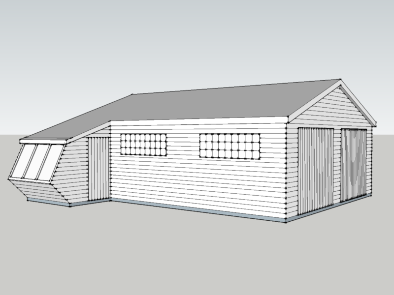 Timber Garage in Compton, Surrey