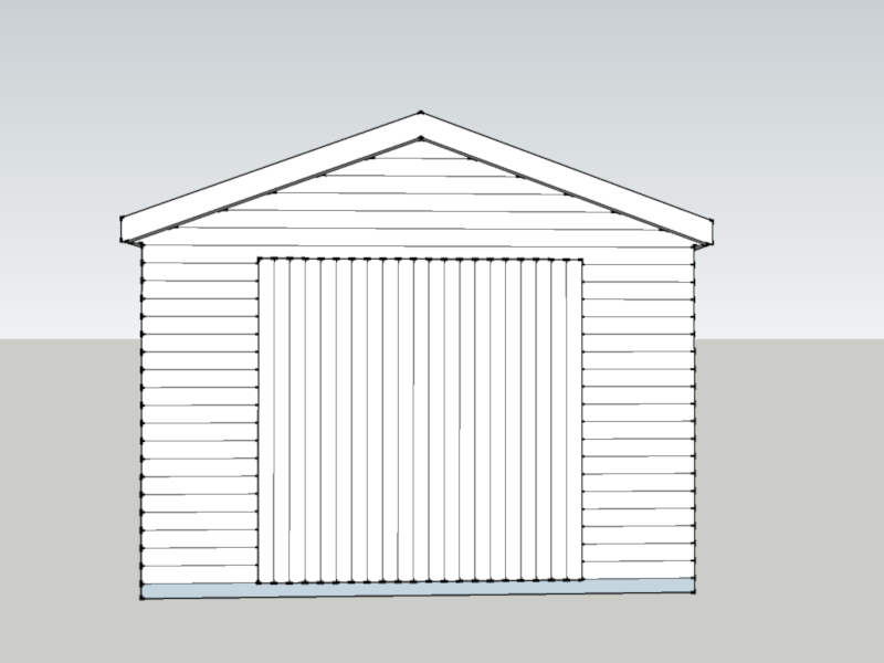 Timber Garage In Stroud, Hampshire
