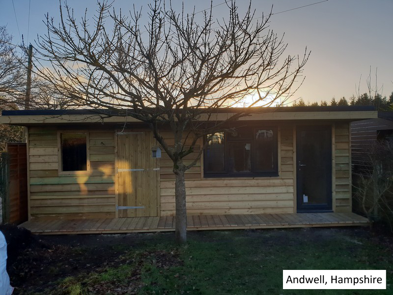 Garden Pod and Workshop in Andwell, Hampshire